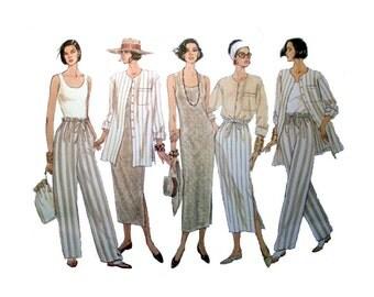 """Vogue 5 Easy Pieces, Women's Top, Dress, Skirt, Pants Sewing Pattern Misses' Size 8-10-12 Bust 31.5-32.5-34"""" Uncut Vogue 1342"""