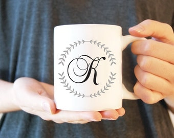 Coffee Mug #12 - Monogram | Ceramic Mug | Funny Coffee Mug | Inspirational Mug | White Ceramic Mug