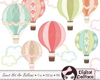 Air balloon clipart | Etsy