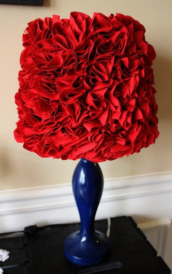 Red Ruffled Lamp Shade Ruffles Lampshade Very Beautiful Or