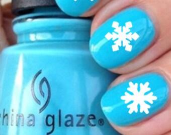 Snowflake Nail Decals