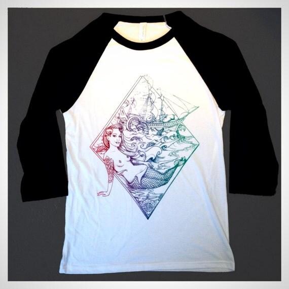 Ariel tattooed mermaid shirt ace of diamonds little mermaid for Tattooed ariel shirt