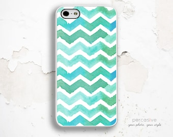 iPhone 6 Case Watercolor Chevron - iPhone 5s Case, iPhone 4 Case, iPhone 5c Case, Chevron iPhone 5s Tough Case :0661