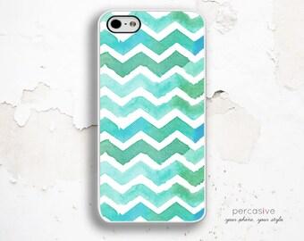 iPhone 6 Case Watercolor Chevron - iPhone 5s Case, iPhone 4 Case, iPhone 5c Case, Chevron iPhone 5s Tough Case :0661