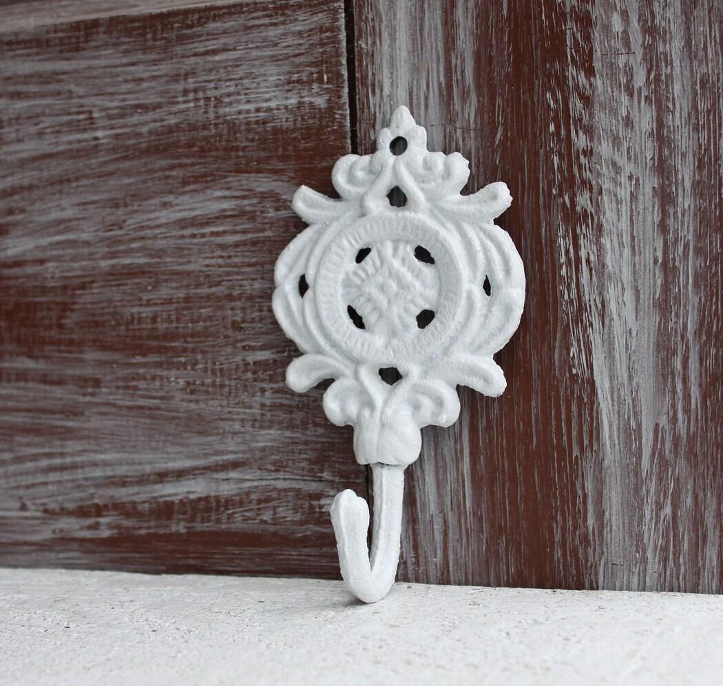 White Wall Hook Decorative Hook Ornate Wall Hook Shabby