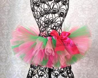 Pink and Green Tutu, Apple Blossom Tutu, St. Patricks Day Tutu, Spring Tutu, Easter Tutu