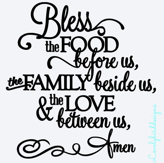Items Similar To Bless The Food Before Us The Family