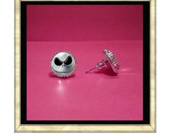 Jack the Pumkin King Earrings - Silver Plated Earrings