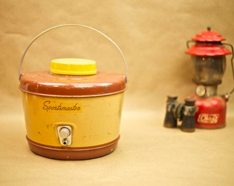 Vintage Sportsmaster camping and picnic thermos jug.
