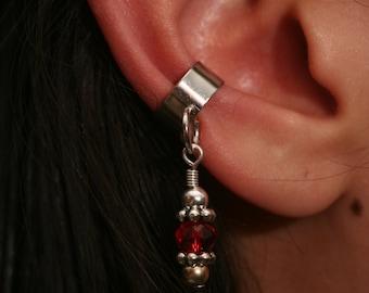 Red Bead Ear Cuff