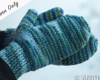 Knitted Mittens Pattern, Chunky Mittens Pattern, Easy Mittens Pattern, Beginner Mittens Pattern, Simply Knitted Mittens, Knitting Pattern