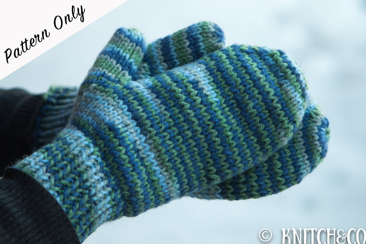 Basic Gloves Knitting Pattern : Knitted Mittens Pattern Chunky Mittens Pattern Easy Mittens