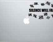 Silence Will Fall decal