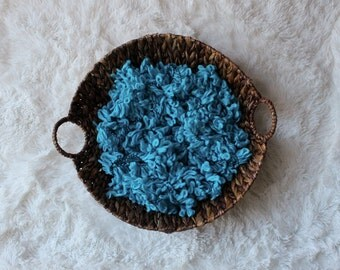 DISCONTINUED.....Blue Basket Filler / Stuffer, Newborn Photo Prop, Basket Stuffer, Light Blue Photo Prop, Ready to Ship.