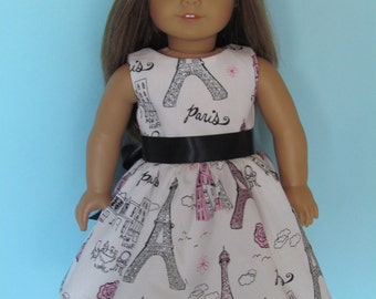 American Girl Paris Eiffel Tower print dress