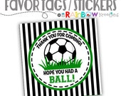 FVTAGS-802: DIY - Soccer Favor Tags or Stickers - Instant Downloadable File