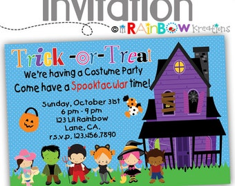 219: DIY - Halloween 13 Party Invitation Or Thank You Card