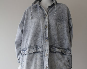 Rad Acid Wash 80's Vintage Oversize Jacket