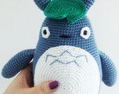 Big Totoro Plushie, Big Totoro Amigurumi, Big Totoro Crochet toy, Big Totoro stuffed toy