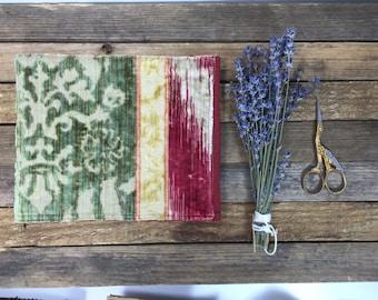 Handmade, soft-touch, fabric bound, notebook....