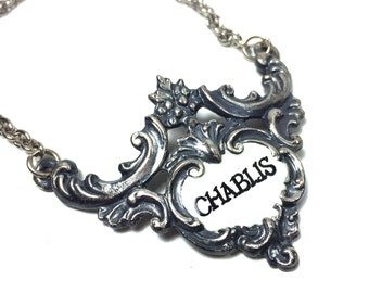 Vintage Chablis Liquor Decanter Label / Tag