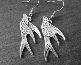 Swooping Swallow Dangle Earrings