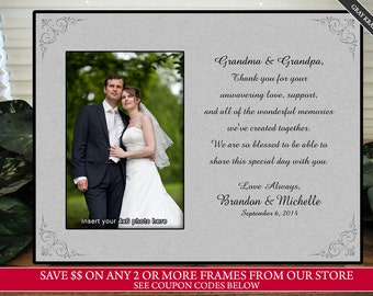 wedding gift for grandma picture frame personalize keepsake picture frame