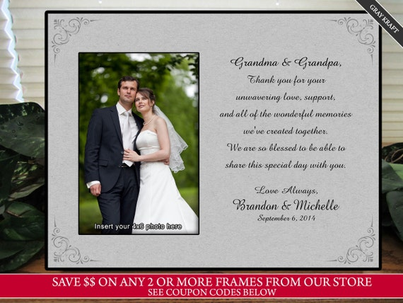 Grandmother Wedding Gift: Wedding Gift For Grandma Picture Frame Personalize Keepsake