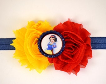 Snow White Headband  - Snow White Halloween Costume - Disney Princess - Snow White Outfit - Snow White Costume - Disney Headband - Baby Girl