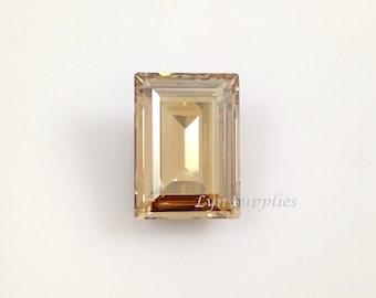4527 GOLDEN SHADOW 18x13mm Swarovski Crystal Foiled Back Fancy Stone No Hole