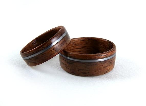 Holz-Ring Set, Bubinga Holz Ringe, Holz Jubiläum Ring Holz Ehering ...