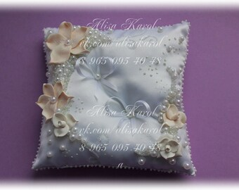 Wedding ring pillow, ring bearer, wedding accessories hand made (ANY COLOR)