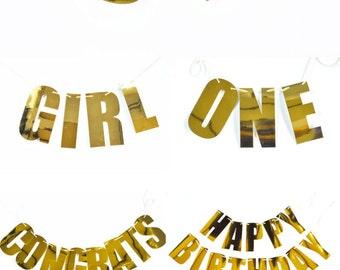 Letter Garland - Custom Banner - Custom Garland - Custom Photo Backdrop Wedding, Birthday, Baby Shower, Bridal Shower Letter Banner (EB3085)