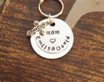 Mom Keychain Proverbs Keychain Handstamped Keychain Personalized Keychain Heart Keychain Custom Keychain Christian Keychain Gift for Mom