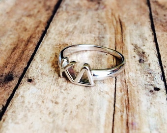 Kappa Delta Classic Letter Ring | Sorority Ring | Kappa Delta Ring | KD Ring | Kappa Delta Jewelry | Sorority Jewelry