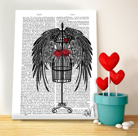 Mannequin with black wings valentines gift for her romantic for Bedroom gifts for her