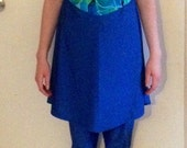 Modest Blue and Green Swimsuit For Women and Girls ~ Size Medium/Large ~ Ready to Ship