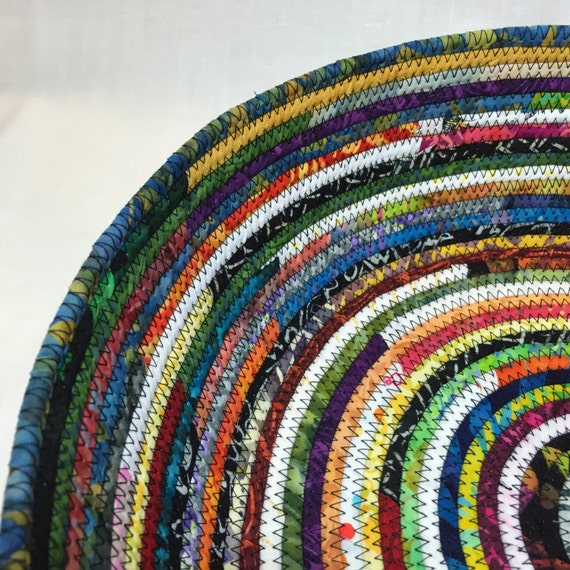 Diy Rag Rug Basket: Rag Rug Fabric Basket Large By NanaZebra On Etsy