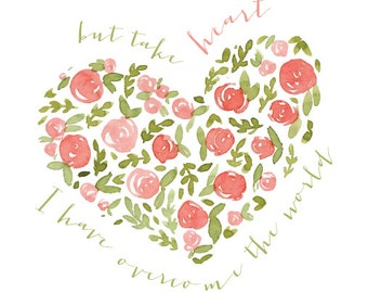 Take Heart Scripture Print - DIGITAL DOWNLOAD