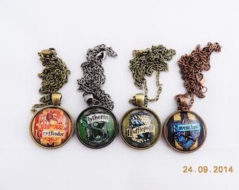 Harry potter Hogwarts' house 1 inch necklace pendant