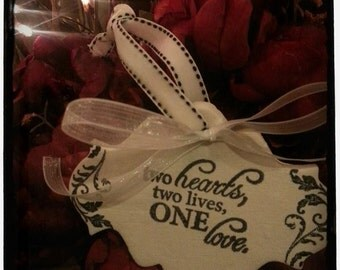 Wedding Clay Gift Tag - ONE LOVE