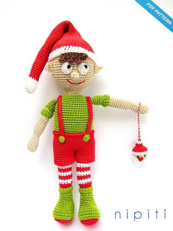 Crochet Toys For Boys : Items similar to amigurumi christmas elf boy