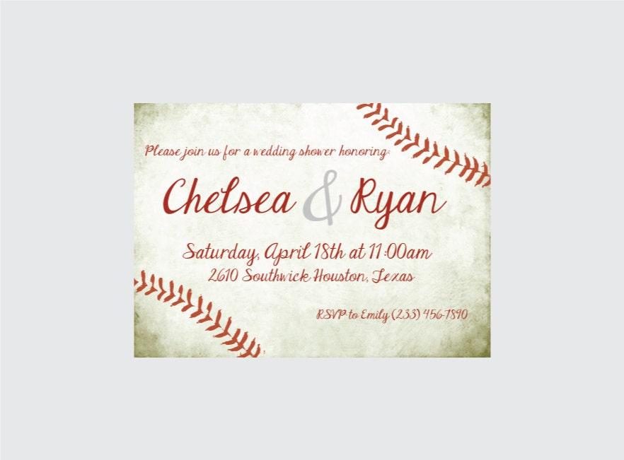Baseball Wedding Invitation: Baseball Wedding Shower Invitation Baseball Wedding Shower