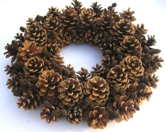 Pine Cone Wreath Fall Wreath Christmas Wreath Fall Centerpiece Dried Wreath Door Wreath Holiday Wreath Natural Wreath Winter Wreath