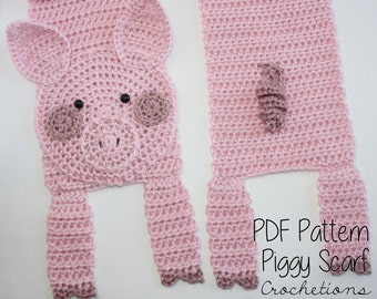 Free Crochet Pattern Bacon Scarf : Crochet PATTERN Bacon Scarf / Handmade Neck by ...
