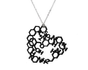 Love Chemistry Laser Cut Necklace