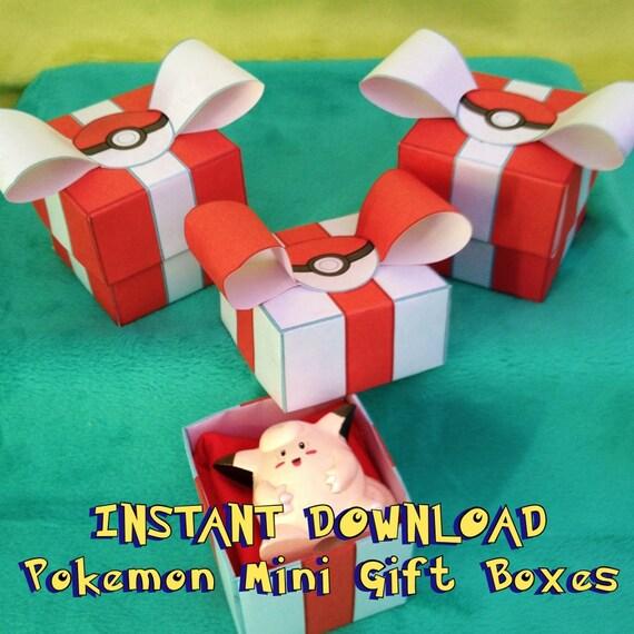 Pokemon Birthday Party Printable Favor Boxes