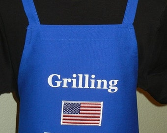 MILITARY Aprons, Embroidered Aprons, BBQ Aprons For Men, Grilling Aprons For men, Mens Cooking Aprons, Novelty Aprons, Veterans Aprons
