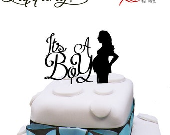 Its a boy pregnancy baby shower cake topper