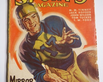 Popular Sports Magazine Fall Issue 1947 Vol. 17 No. 1 Vintage Pulp